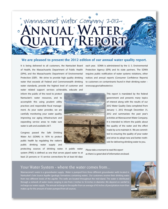 Wannacomet Water Company Annual Report 2012