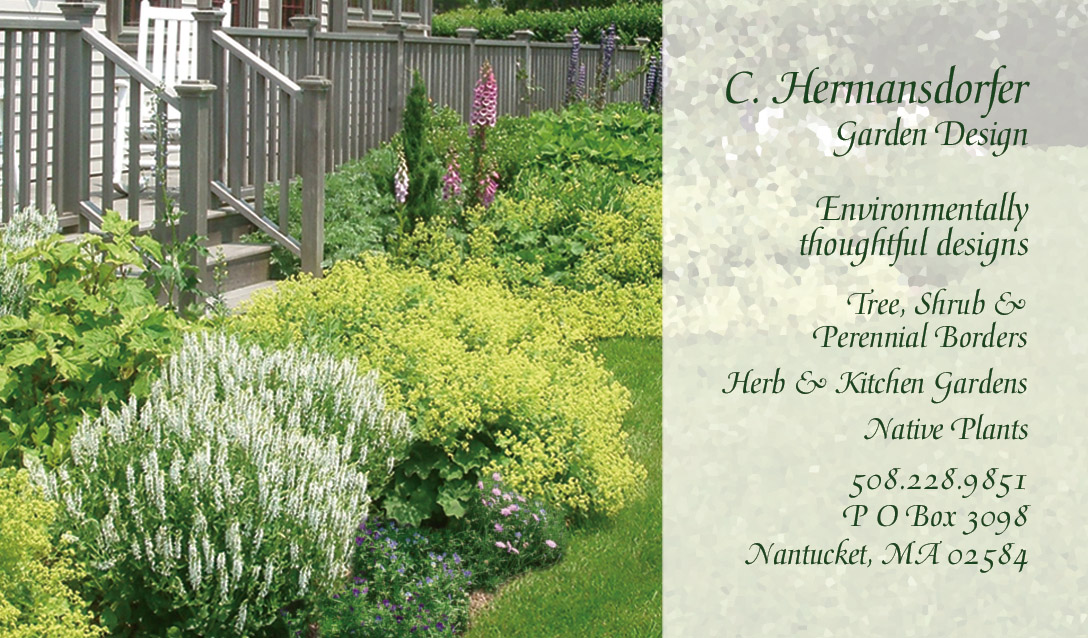 Landscape Design Business Card_2010 Hermansdorfer Garden Design, Business  Card